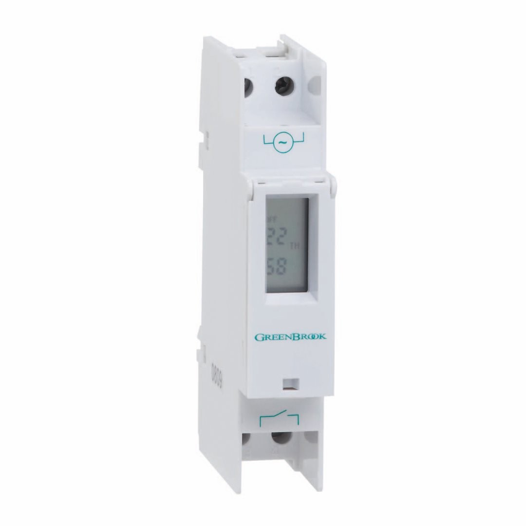 GreenBrook T80-C Din Rail Mounting Timer - Buy online or in store from John Cribb & Sons Ltd