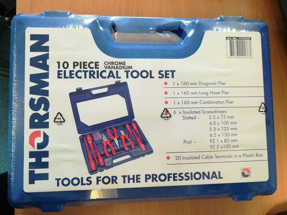 Thorsman 1773157 10 Piece Electrical Tool Kit
