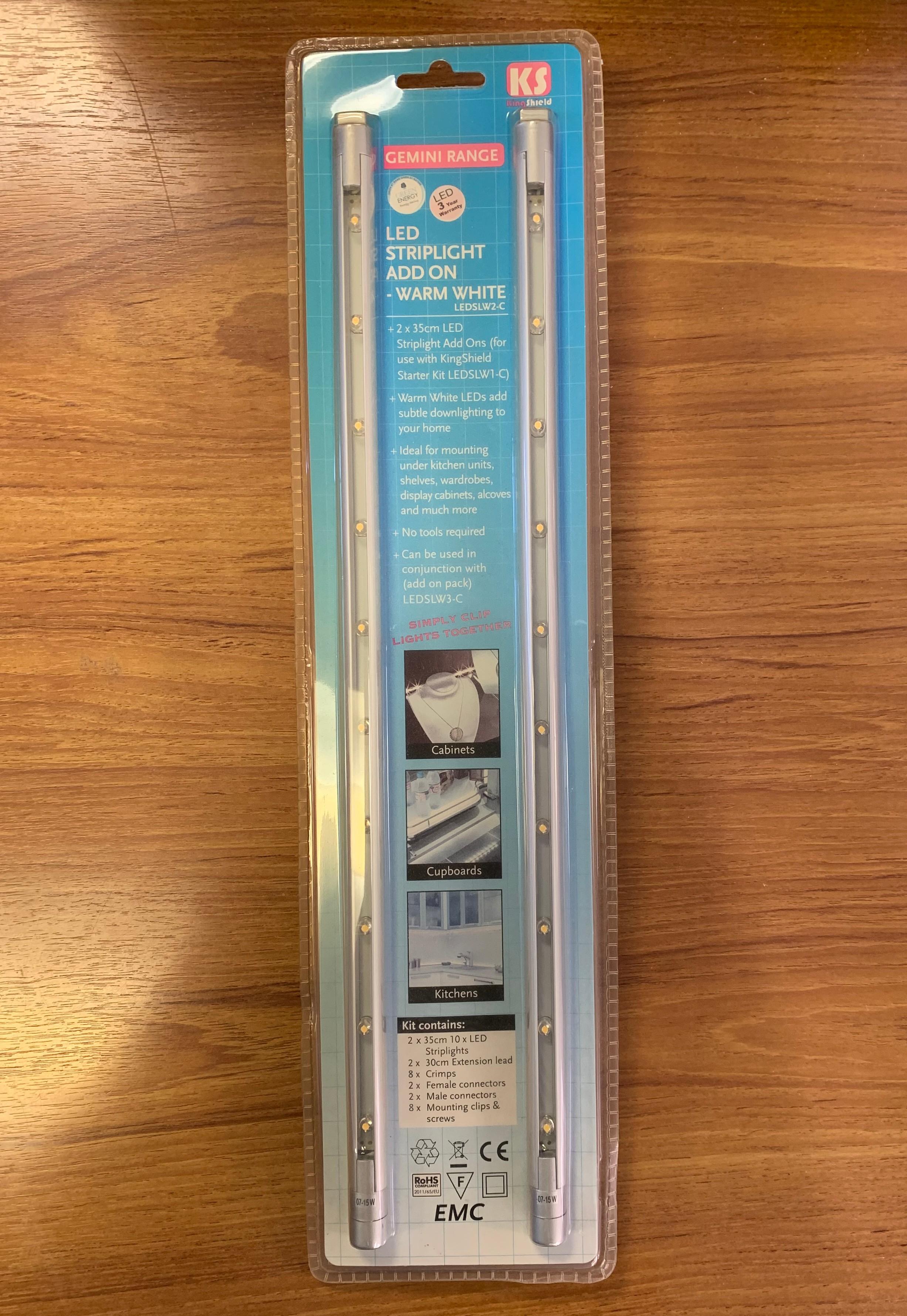 GreenBrook KingShield LEDSLW2-C LED Striplight Add On- Warm White - Buy online or in store from John Cribb & Sons Ltd