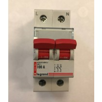 Legrand 004336 LEXIC 100A DP ISOLATOR RED SW