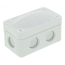 Wiska 10109569 COMBI® 206 LG Junction Box 85x49x51mm, Plastic, RAL 7035 - Buy online or in store from John Cribb & Sons Ltd