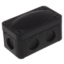 Wiska 10109571 COMBI® 206 BK Junction Box 85x49x51mm, Plastic, RAL 9005 - Buy online or in store from John Cribb & Sons Ltd