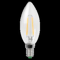 MEGAMAN 143175 Lamp, LED Filament E14, Candle Shape