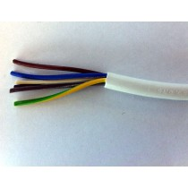 0.5mm² 2095Y 5 Core Heat Resisting PVC Insulated and Sheathed Flexible Cable, White