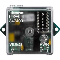BTicino 347400 Coax to 2 Wire Converter for Connecting CCTV Cameras to a busline
