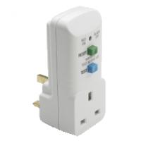 Schneider 400137 Thorsman - 13A RCD plug in adaptor