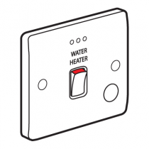 Legrand Synergy 730116 Double Pole Switch Marked Water Heater FO & Neon 20A 250V White