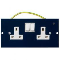 Mita INS55300 Floor Box Twin Switched Dual/Clean Socket, 3 Comp, 13A 32mm x 87mm x 173mm