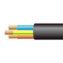 1.5mm² 3183Y 3 Core Flexible PVC cable, Black
