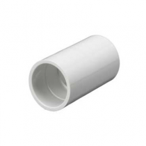 Mita PSC20W Plain Coupler for Rigid Conduit 20mm White