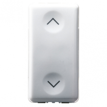 Gewiss GW20521 Push-Button, 1P 250V ac - Double NO 10A, Vertical Arrow, 1 Module, System White