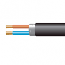 1.0mm² 3182Y 2 Core Flexible PVC cable, Black