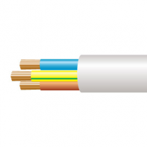 1.0mm² 3183Y 3 Core Flexible PVC cable, White