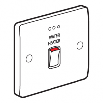 Legrand Synergy 730112 Double Pole Switch, DP Marked Water Heater c/w Neon 20A 250V White