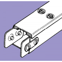 Barton Engineering QF44 3m x 100mm x 100mm Quick Fix Trunking c/w Lid & Couplers