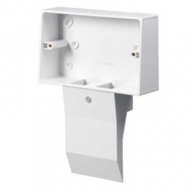 Mita SKB22W 2 Gang External Mounting Box for Skirting Trunking White