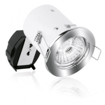 Aurora Lighting A2-FPK951PC 50W 12V Pack Fixed Pressed Square Edge, Fire & Acoustic MR16 Fire Protection Downlight, Polished Chrome