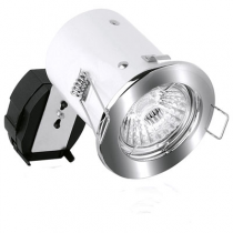 Aurora Lighting A2-FPK951SN 50W 12V Pack Fixed Pressed Square Edge, Fire & Acoustic MR16 Fire Protection Downlight, Satin Nickel