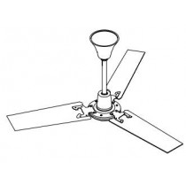 Vent-Axia 428050 Fan, HL120 Ceiling c/w Downrods &, Fittings Hi-Line Plus Ceiling Sweep Fans
