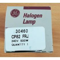 GE HALOGEN LAMP, 43824, 30460, CP82, FRJ, 240V 500W