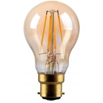 4W LED Filament GLS lamp, B22, Gold finish, 20000hrs, 2700K
