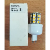 4W G9 LAMP, 24LEDs 220-240V, 50-60Hz, WARM WHITE