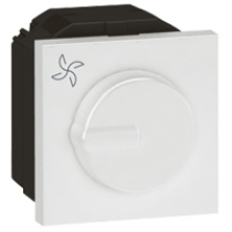 Legrand 572218 Arteor™ Fan Step Regulator Rotary Speed 2 Module Fan Controller - Buy online or in store from John Cribb & Sons Ltd