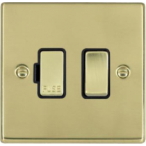 Hamilton Hartland 71SPPB/BL 1 Gang Fused Spur Switch in Polished Brass/Black