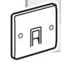 Legrand Synergy 730056 Single Data Socket 1G RJ45 Cat 6 White