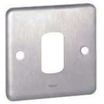 Legrand Synergy 833191 1 Gang 1 Module Grid Plate (Brushed Steel)