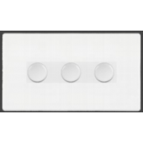 Hamilton 7WC3X100LEDWH 100W Dimmer Switch, 3 Gang LED White