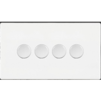 Hamilton 7WC4X100LEDWH 100W Dimmer Switch, 4 Gang LED White