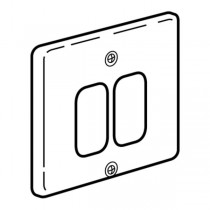 Legrand Synergy  833392 Frontplate, 1 Gang 2 Modules Small Aperture, Polished Stainless Steel, Size: 86x86mm