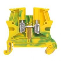 Legrand 037174 Standard DIN Rail Terminal, 371 Series , 16mm², 800 V, 57A, Screw Down Termination, Green/Yellow, Single Level
