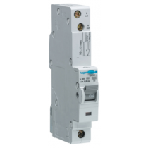 Hager ADC106, RCBO, SP Type C, 1 Module, Size: 6A 30mA 10kA