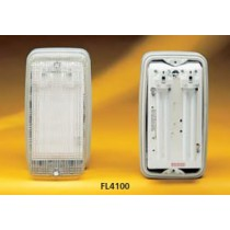 Appleby FL4100SS Fluorescent Luminaire with 2 x 9W Lamps with clear polycarbonate diffuser