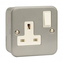 SCOLMORE CL035 Socket, 1 Gang DP Switched & Box, Size: 13A