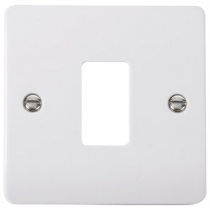 Scolmore CMA20401 1 Gang GridPro® Frontplate in White - Buy online or in store from John Cribb & Sons Ltd