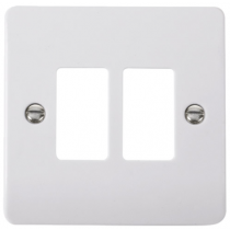 Scolmore CMA20402 2 Gang GridPro® Frontplate in White - Buy online or in store from John Cribb & Sons Ltd
