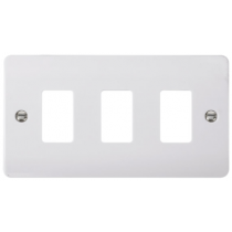 Scolmore CMA20403 3 Gang GridPro® Frontplate in White - Buy online or in from John Cribb & Sons Ltd