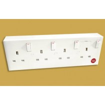 CONV4 1 or 2 Gang To 4 Gang Converter Socket, versatile retrofit solution where extra outlets are required.