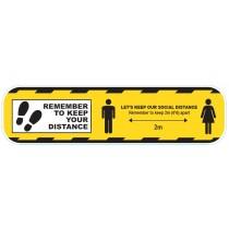 CVSDY Coronavirus COVID19 Social Distance Floor Sticker Yellow 600mm - Buy online or in store from John Cribb & Sons Ltd