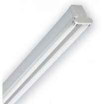 Dextra Lighting DP236C84 Dexpax White Twin Switch Start Fluorescent Batten Luminaire with 2 x 36W T8 Lamp 4ft