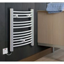 Dimplex TDTR350W 350W Curved Ladder Style Towel Rail White