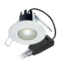 Collingwood Halers DLT388MW5530 Downlight, Dimmable, H2 Lite 55Deg 3000K LED, c/w  Matt White Bezel & Push-Fit Connector - buy online from John Cribb & Sons Ltd