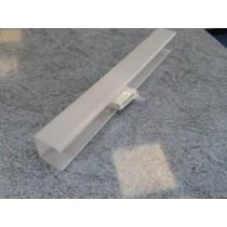 Dextra Lighting DPO12 Dexpax Single Opal Diffuser With Brackets & White Push Fix End Caps For 1 x 18W Fluorescent Batten 2ft