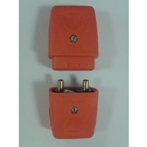 MK LCP102ORG Lead Connectors Two Pin 10A Plug and Socket Orange