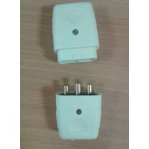 MK, LCP103WHI , Lead Connectors, THREE PIN 10 AMP, THREE PIN 10A PLUG AND SOCKET, White