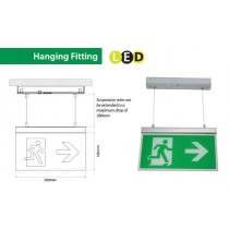Channel Safety Systems Razor Hanging LED exit signage - E/RZ/M3/LED/H