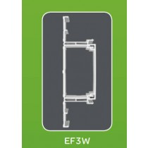 Mita EF3W White UPVC Envoy Base and Centre 3m x 52mm x 180mm
